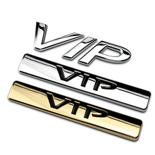 VIP Ho 3D Metal Luxury Car Auto Tailgate C Pillar Badge Chrome Gold Logo Emblem Stickers SUV Truck for Teana Toyota Car-Styling