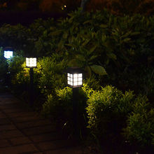 1Pcs white ABS Light Solar LED Path Light Outdoor Garden Lawn lightings Wholesale Hot Sale solar lawn lamps(China)