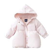 2017 Hiheart new style Winter clothes baby Down Jackets Ultra-light child Down jacket Girl 90% white duck down One year old Pink(China)