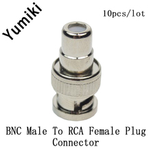 10pcs/lot CCTV Acessories BNC Male to RCA Female Coax Cable Connector Adapter Coal Convert Plug(China)