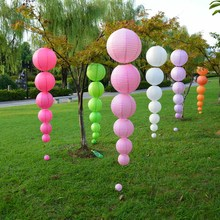 "Wholesale 100pcs/lot 10"" Chinese Paper Lanterns 25cm Round Solid Ball Lamp Shades For Wedding Birthday Party Decoration"