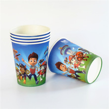 10pcs 7.5cm*8.5cm*5cm Pawed Patrolling Dog Cup Cartoon Disposable Paper Cups Kid Boy Birthday Party supplier