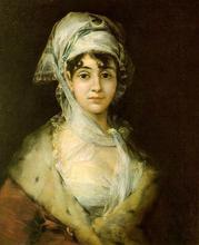 Free shipping 100% hand painted most famous artists painting reproduction of Goya oil painting Antonia-Zarate