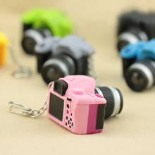 Cute Dollhouse Miniature Plastic SLR Camera Dolls House Miniature Keychain Charm Pendant DIY Deco Parts(China)