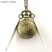 FANTASY UNIVERSE Freeshipping a lot 20PCS pocket watch NECKLACE RTTEL05(China)