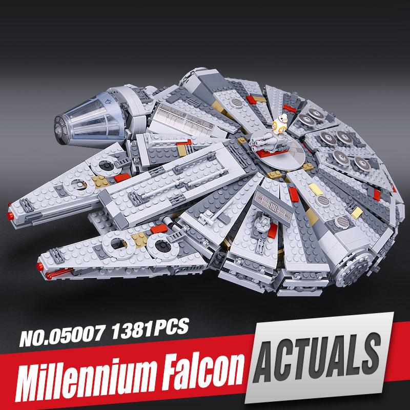 LEPIN 05007 1381Pcs Millennium Falcon Force Awakening Star Wars Building Blocks Toys For Children Star Wars Toys 10467<br><br>Aliexpress