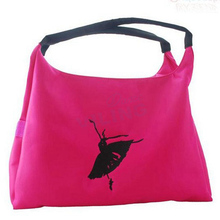 Ballet dance bag black hanhandbags for girls women dancer Embroidered Clutch good Water-proof fabric bag(China)