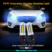 2 pcs/lot Free Shipping 69 SMD4014 P13W LED for Mazda CX5 daytime running light can produce H4 H7 H8 H11 HB3 HB4 led fog light