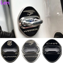 4pcs Door Lock Decoration Protection Cover emblem case for Toyota Harrier lexus C-HR Alphard 86 Vellfire accossories car styling