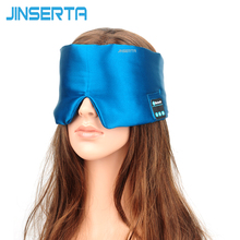JINSERTA Wireless Sleep Headphones Natural Silk Stereo Bluetooth Headset For Listenting Music Answering   Phone Also Eye Mask