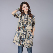 Buy Ethnic Woman Blouses Autumn 2016 Vintage Plaid Blusas Femininas Casual Ladies Tops Long Sleeve Shirt Plus Size Women Clothing for $10.40 in AliExpress store