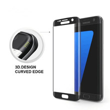 0.26mm 3D 9H Full Cover Curve Tempered Glass Screen Protective Film for Samsung S7/ S7 Edge Transparent White Black Gold