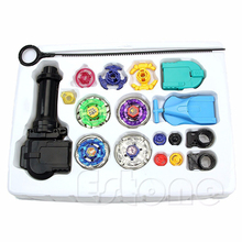 Beyblade Metal Spinning Beyblade Sets Fusion 4D 4 Gyro Box Fight Master Beyblade String Launcher Grip For Sale Kids Toys Gifts(China)