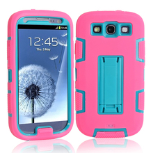 For Samsung Galaxy S3 Fitted Case Heavy Duty Hard Rugged Rubber Case 3in1 Hybrid Design Hard Back Cover For Galaxy s3 cases(China)