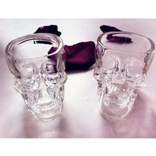 2017 High Quality  Skull Head Vodka Whiskey Shot Glass Cup Drinking Ware Home Bar