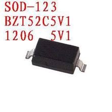 Free shipping Zener diode BZT52C5V1 SOD-123 100PCS(China)