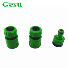 "3 Pcs 1/2"" 3/4' Gesu Connectors Garden Hose Pipe Fitting Quick Connectors Garden Water Connectors Adapter Garden Lawn 71503QFC(China)"