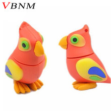 VBNM Lovely disk pendrives cartoon Pecker Bird pendrive 4gb 8gb 16gb 32gb Parrot birds usb flash drive pen drive memory stick(China)