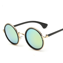 Low prince and high quality Edward round glasses new retro color reflective sunglasses men and women general glasses