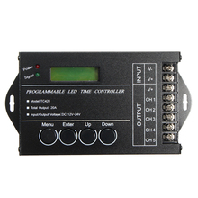 Mayitr Time Programable RGB LED Controller Dimmer DC12-24V 5Channel Total Output 20A Common Anode Programmable+USBcable+Manual