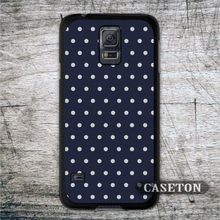 Polka Dots With Navy Blue Case For Galaxy S7 S6 Edge Plus S5 S4 S3 mini Active Win Note 4 3 A7 A5 A3 Core 2 Ace Brand New Cover