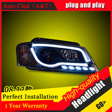 Auto Clud Car Styling For Audi A3 headlights 2008-2012 For A3 head lamp led DRL front Bi-Xenon Lens Double Beam HID KIT(China)
