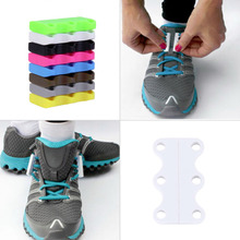 1 Pair Novelty Magnetic Casual Sneaker Shoe Buckles Closure No-Tie Shoelace New Worldwide sale(China)