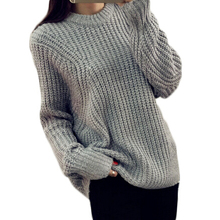 Winter O-Neck Loose Casual Women Sweater Batwing Pullover Oversize Jumper Pull Crochet Ladies Tops Knitwear MF895621