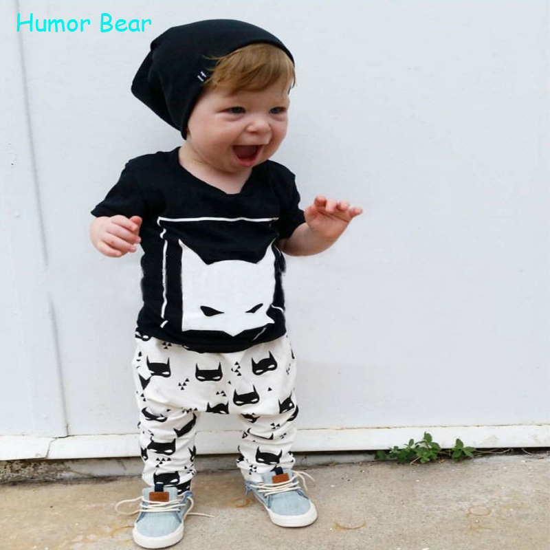 Humor Bear 2016 New style summer Baby Clothing Sets Boy Cotton cartoon Short Sleeve 2pcs Baby Boy Clothes<br><br>Aliexpress