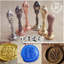 Retro Classic 26 letter A-Z CHOOSE Alphabet Initial Sealing Wax Seal Stamp Post,DIY Scrapbooking Vintage Gift with wood handle