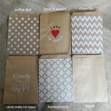 50pcs Brown Kraft Paper Bags Strung Food Quality Craft Favor Candy Snack Bags Gift Treat Paper Bags Party Favor 5 x 7