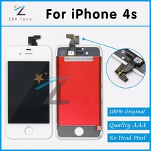 20PCS/LOT No Dead Pixel White & Black for iPhone 4S Screen Replacement with LCD Display Digitizer Assembly Free DHL Ship