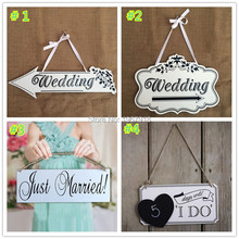 Creative Wooden Wedding Signs I Do Wedding Photo Props Wedding Wood Directional Sign Just Married Reception Arrow Free Shipping(China)