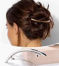 Simple Metal Bending Barrette Gold Silver Color Hair Clip Women Hair Accessories 2H3005