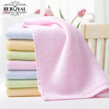 New 2017 -- 8pc/Lot Bamboo Hand Towel Baby Face Cloth Plain Dyed Children Bibs Soft Towels bathroom Brand Towel 25*25cm