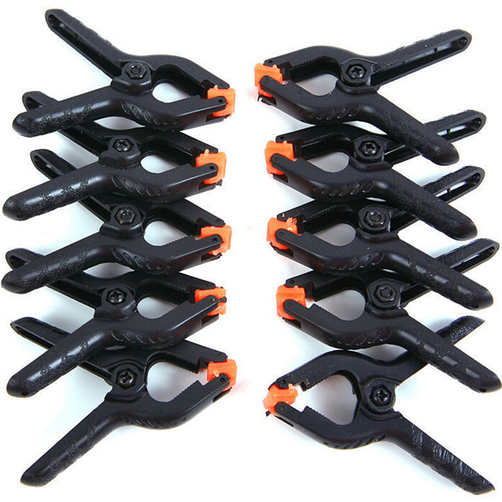 10pcs 2inch Spring Clamps DIY Woodworking Tools Plastic Nylon Clamps For Woodworking Spring Clip Photo Studio Background