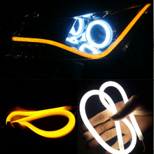 2pcs 60cm DRL Flexible LED Tube Strip Style Daytime Running Lights Tear Strip Car Turn Signal Light Parking Lamps(China)