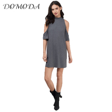 Buy DOMODA 2017 Solid Black Summer Dresses Women Clothing O-neck Cold Shoulder Loose Sexy Dress Vestidos Party Casual Dress Female for $12.99 in AliExpress store