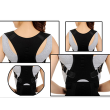 New Style Back Brace Posture Corrector Best Adjustable Magnet Support Brace Improves Posture and Provides Lumbar Black M/L/XL(China)