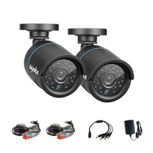 SANNCE 2pcs AHD 720P HD 1.0MP high resolution CCTV Security Cameras H.264 Waterproof Indoor/ Outdoor Surveillance Cameras set