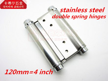 Wholesale 4in Strong Stainless Steel Double action spring hinge swinging door hinge 2pcs/lot(China)