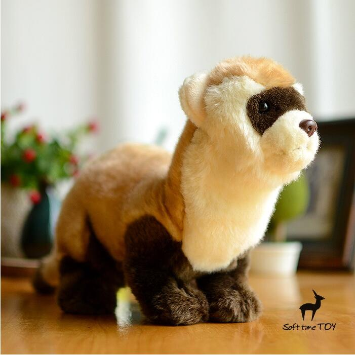 Cute  Ferrets Childrens Toys   Simulation Plush Stuffed Animals Toy   Creative Gifts<br>