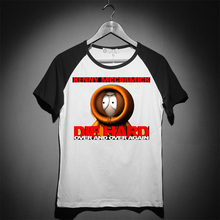 South Park Pulp Fiction printing high quality soft modal cotton tee British slim style(China)