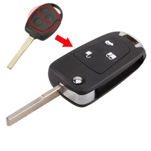 KEYYOU New 3 Buttons Modified Folding Remote Key Flip Fob Shell For FORD FOCUS MONDEO Fiesta With LOGO Free Shipping