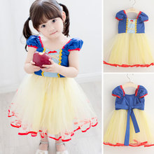 Retail!sofia - cinderella belle snow white princess dress girl baby kids girls dress cosplay christmas costume clothes,1-8 yrs