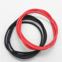 50 set/lot 12AWG Silicone Wire 1M Black + 1M Red Conductor Construction Tinned Copper Soft Silicone Cable(China)