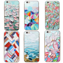 Luxury phone Graffiti Painted oil Painting Art color Design cases for iphone 5 5s SE 6 6s Plus 7 7Plus Hard plastic Capa Fundas