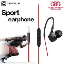 Cafele 3.5mm In-ear Sport Earphones Super Bass Hifi Running Earbuds Stereo Earpod With For iPhone 5s 6s plus Samsung MP3 MP4(China)
