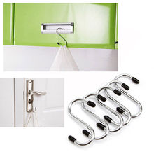 "4Pcs/lot Powerful ""S"" Shape Type Stainless Steel Storage Hanger Hooks Organizer Free Shipping(China)"