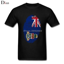 Cayman Flag Fingerprint T-shirt Men's Classic Short Sleeve Fashion Custom Plus Size Group T-shirts(China)